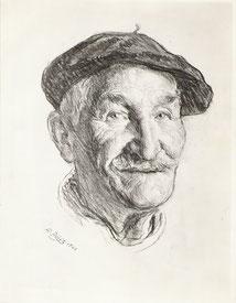 Mr Rufat un ami de Garrigou Ariège 1966