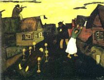 Chagall, Il morto,  1908