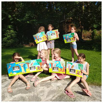 Schilderij+groepsfoto