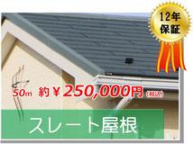 スレート式コロニアル屋根高耐久塗装