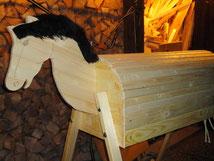 Voltigierpferd in Holz aus dein holzpferdeshop