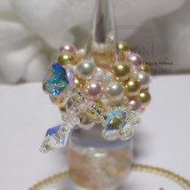 Finger Schmuck Multicolor Flower Glamour Gold Flower