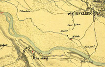 1835 floss die Thur weit von Weinfelden weg auf der Bussnanger Seite
