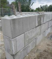 mur enblocs de béton assemblés - Pajot entreprise constructeur génie civil