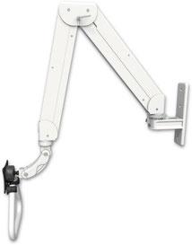 ASELQ5280-WT : ガススプリング内蔵 昇降式 壁面固定 ロングアーム ディスプレイ用