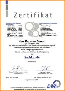 Zertifikate und Zertifizierungen, Kanalservice Georg Mayer