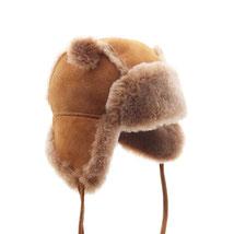 chapeau chapka cagoule bonnet en peau de mouton naturelle peau lainée peau de mouton retournée agneau double face fourré intérieur cuir velour enfant bébé 6 mois 12 mois 18 mois 1 an 2ans 3 ans