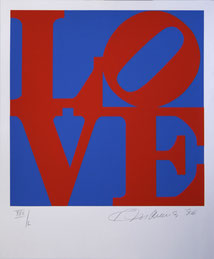 Robert INDIANA, The Book of Love - 1996, Serigraphie on board 24 x 20 inches, Ed. 200