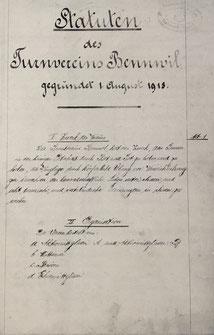 Statuten von 1918
