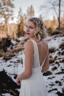 Hochzeitskleid aus Baumwolle