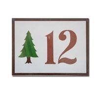 Placa numeración 15 x 20 cm
