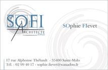Cartes de visite SOFI Architecte