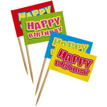 Happy Birthday Feest Prikkers 24 stuks € 1,50