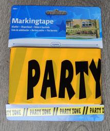 Afzetlint 15m € 2,50 Party Zone