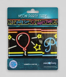 Afzetlint 12m € 2,50 Party Time Neon