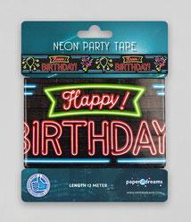 Afzetlint 12m € 2,50 Happy Birthday Neon