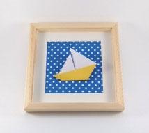 cadre mural origami decoration chambre cadeau naissance