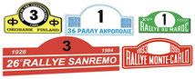 race plates bonnet shop sanremo montecarlo rally pubblimais adhesive