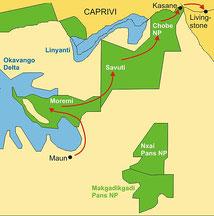 Campingsafari Botswana von Maun nach Victoria Fälle