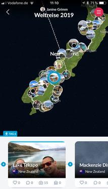 Reiserouten Tracking