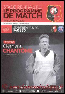 Programme  Rennes-PSG  2016-17