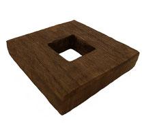 Soporte 8,5x8,5 Cm. (Paulownia)