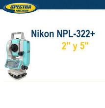 estacion total nikon npl322+