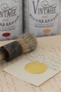 Peinture VINTAGE PAINT Warm yellow de Jeanne d'Arc Living