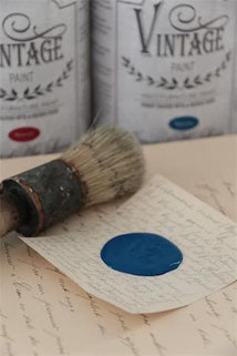 Peinture VINTAGE PAINT Warm blue de Jeanne d'Arc Living