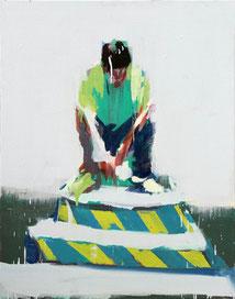 GUO CHANGLIANG, Green Series No. 38, 2016, Acryl auf Leinwand,  100 x 80 cm, € 4.500,--