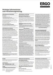 Vollständige Versicherungsbedingungen für die Reiseversicherung für Reisen und Urlaub in Deutschland