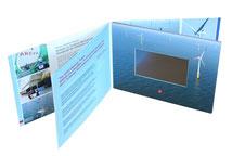 Video-Card Video-Broschüre Touch-Screen