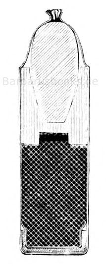 Zündnadel-Papierpatrone nach der Aptierung