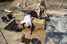 2009-2010 fouilles sur le G2 bis  bois de Fourgon Avrillé