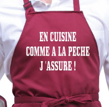 tablier pêcheur cuisinier