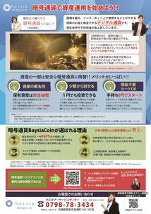 世界へ挑む暗号通貨ベイジアコインのチラシ裏面
