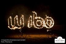 Wärmepartner Wibo in die Feuershow integriert © ExperiArts Entertainment - Thomas Ix