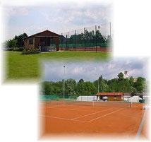 Tennisheim und unsere Anlage.