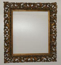 Originaler Barockrahmen,Filigrane Durchbruchareit,58,5 x 69,5 cm,Holz,Gold,Stuck , € 850,00