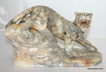 Italienische Steinfigur, Tiger, Wildkatze,Glasaugen, 1920, € 220,00