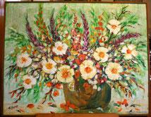 Herrlich gemaltes Blumenbild, € 550,00