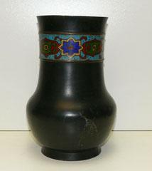 Bronze Vase, Japan, Meiji-Periode, Emaill Dekor, Champlevé Vase, 27,7 cm, € 320,00