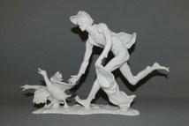 "Alboth & Kaiser, G. Bochmann, "" Der Gänsedieb"" , Pozellan, 35,5 cm , € 280,00"
