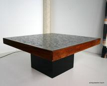Willi Rizzo Design,60er Jahre Couchtisch,signierte Designerplatte,Kubismus, € 1600,00