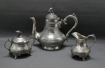Kernstück Zinn,versilbert, Kaffeeset, F&R Berlin, Leuconide Kayser & Sohn, € 185,00