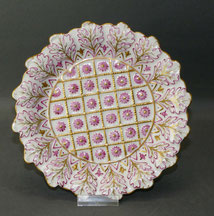 Herend Hvngary, Porzellan, Sammelteller, Gold, seltene Blütenform, 7661, Ø 18,2 , € 150,00