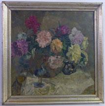 August von Brandis, 1859 - 1947, Blumenstillleben mit Kranich, € 1250,00