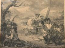 Seltener alter Stich der Schlacht von Kintzingen zwischen Archduke Charles und General Moreau, € 450,00