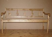 Biedermeier Bank, Eschenholz, Vasenmotive, restauriert, 160,0 cm , € 1250,00