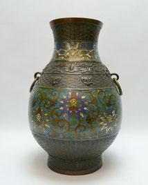 Bronze Vase, Japan, Meiji-Periode, Emaill Dekor, Champlevé Vase, 36,0 cm, € 420,00
